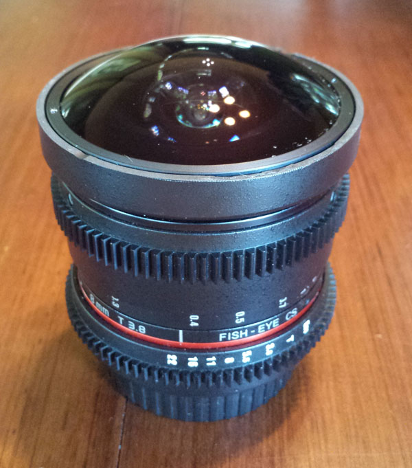 Modified Rokinon 8mm Fisheye Lens