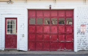 Provincetown firehouse door in an off the beaten path tourist spot